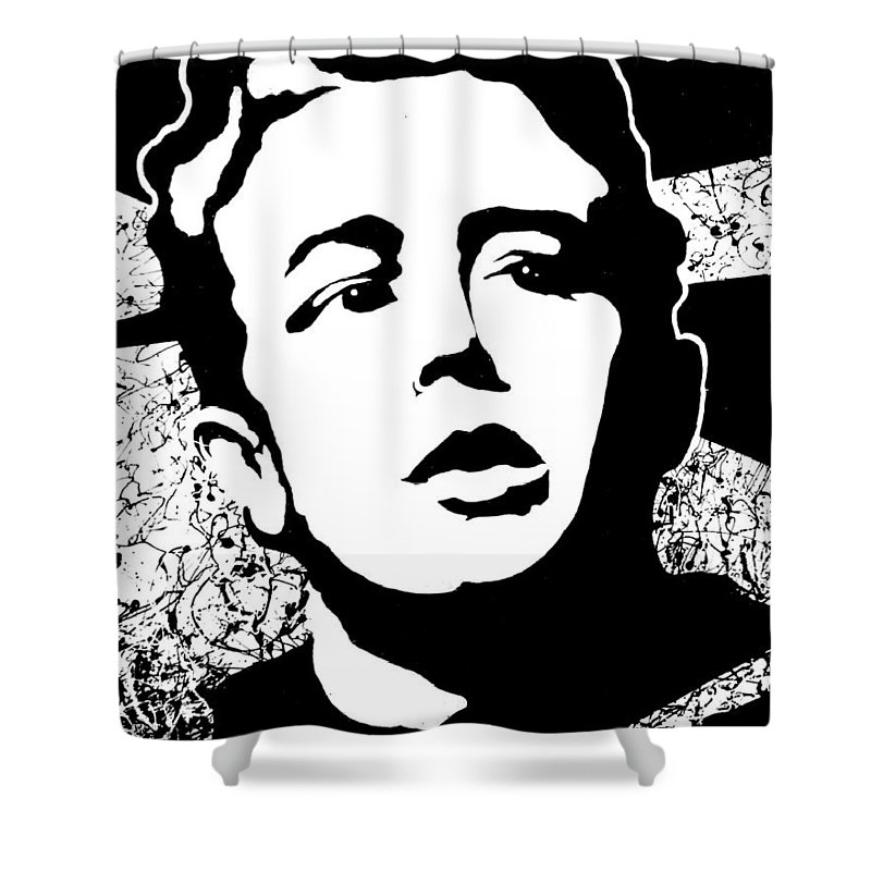 James Dean Shower Curtain featuring the painting James Dean by Curtiss Shaffer