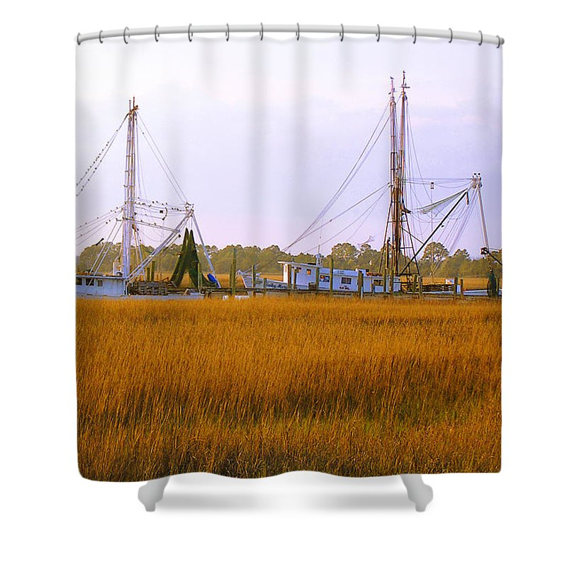 James Island Shower Curtain featuring the photograph James Island by Charles Harden