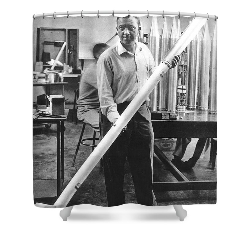 20th Century Shower Curtain featuring the photograph James Van Allen (1914-2006) by Granger