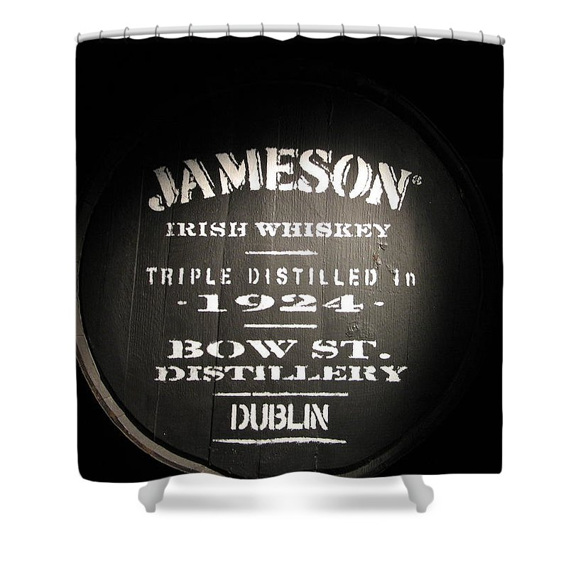 Whiskey Photographs Shower Curtains