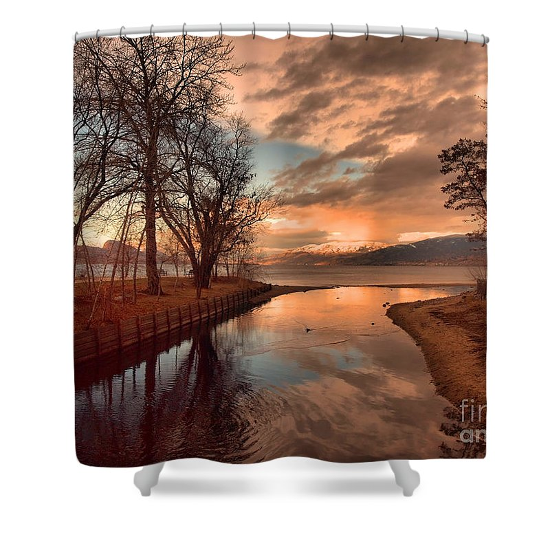 Sunset Shower Curtain featuring the photograph January 15 2010 by Tara Turner