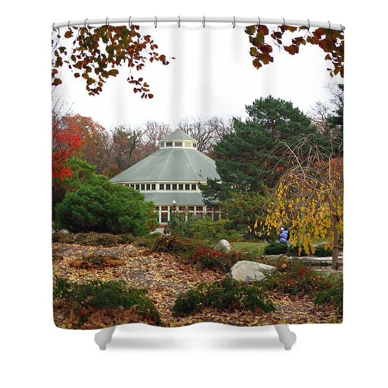Garden Shower Curtain featuring the photograph Japanese Garden Roger Williams Park by Barbara McDevitt
