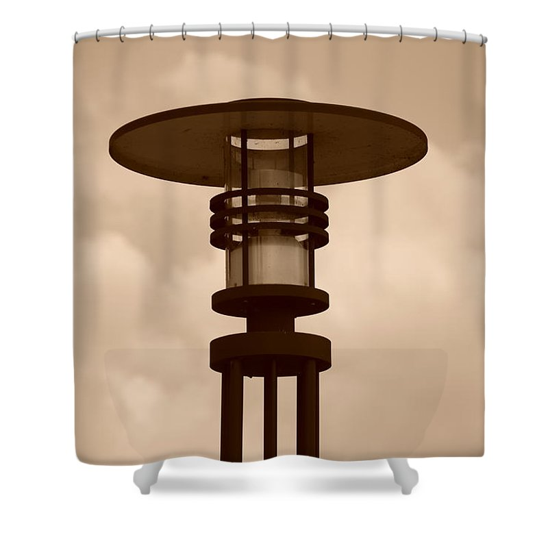 Sepia Shower Curtain featuring the photograph Japanese Lamp by Rob Hans