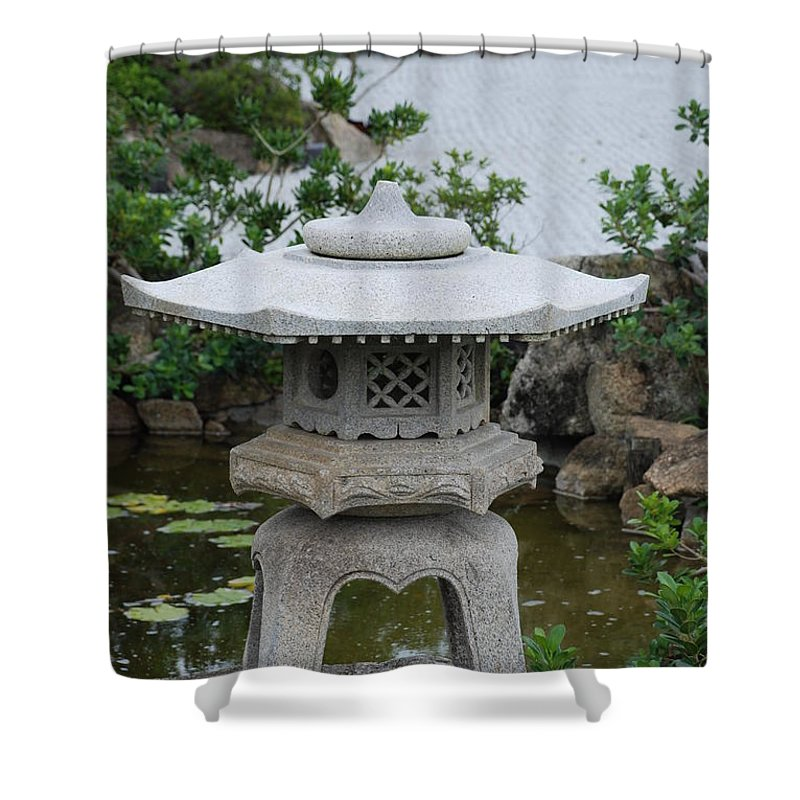 Rocks Shower Curtain featuring the photograph Japanese Lantern by Rob Hans