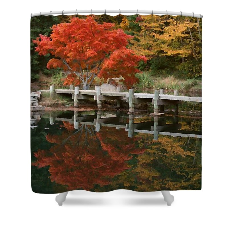 Maymont Shower Curtain featuring the photograph Japanese Reflection by Tina Meador