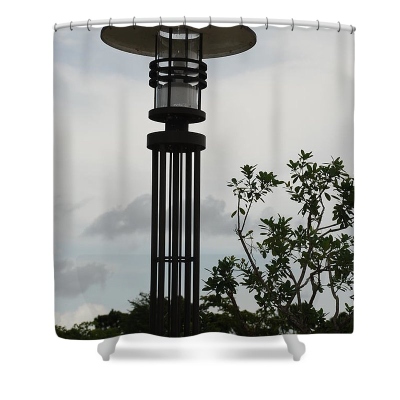 Street Lamp Shower Curtain featuring the photograph Japanese Street Lamp by Rob Hans