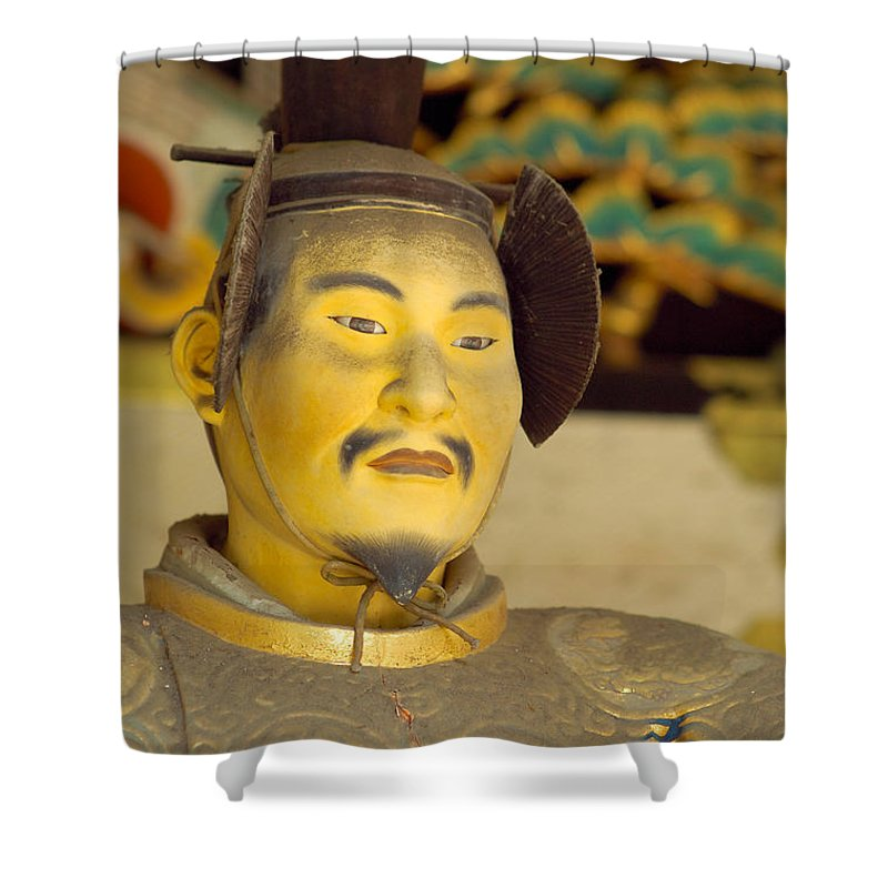 Japan Shower Curtain featuring the photograph Japanese Warrior by Sebastian Musial