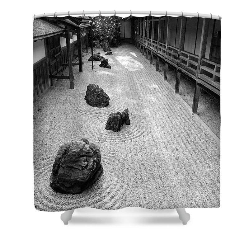 Japan Shower Curtain featuring the photograph Japanese Zen Garden by Sebastian Musial
