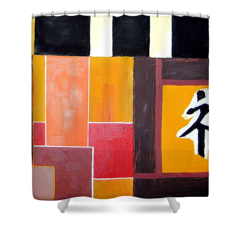 Japonise Shower Curtain featuring the painting Japonise Painting by Alban Dizdari