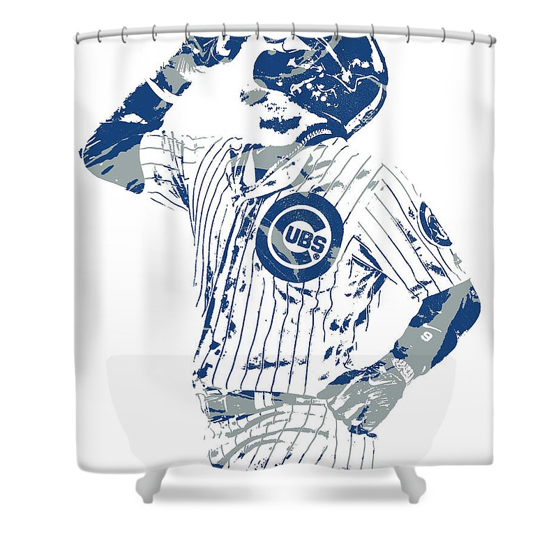 Javier Baez Chicago Cubs Pixel Art 10 Shower Curtain For Sale By Joe