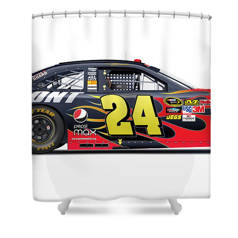 Jeff Gordon Shower Curtains Fine Art America
