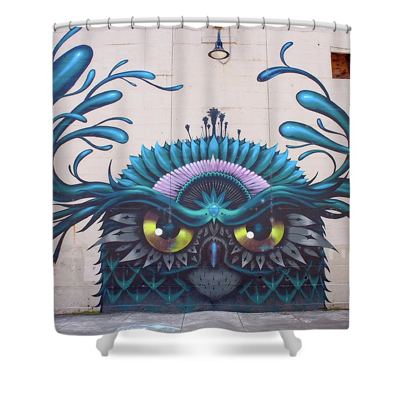 Jeff Soto Shower Curtain Featuring The Photograph Mural By Jean Haynes