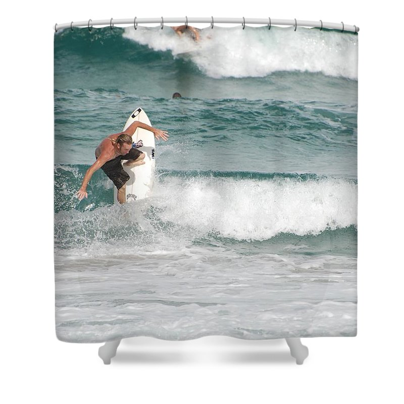 Ocean Shower Curtain featuring the photograph Jeff Spicolli by Rob Hans