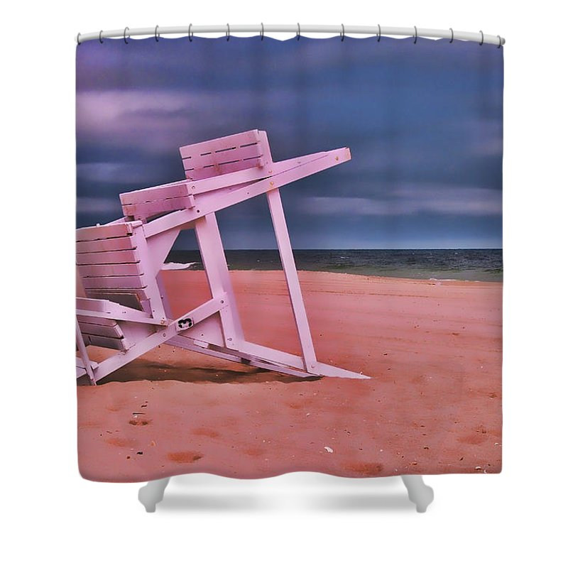 Island Beach State Park Shower Curtain featuring the photograph Jersey Shore 2 by Allen Beatty