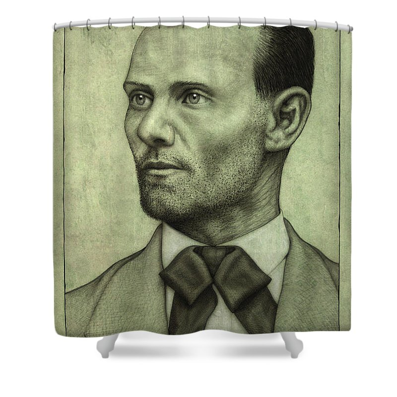 Jesse James Shower Curtain featuring the painting Jesse James by James W Johnson