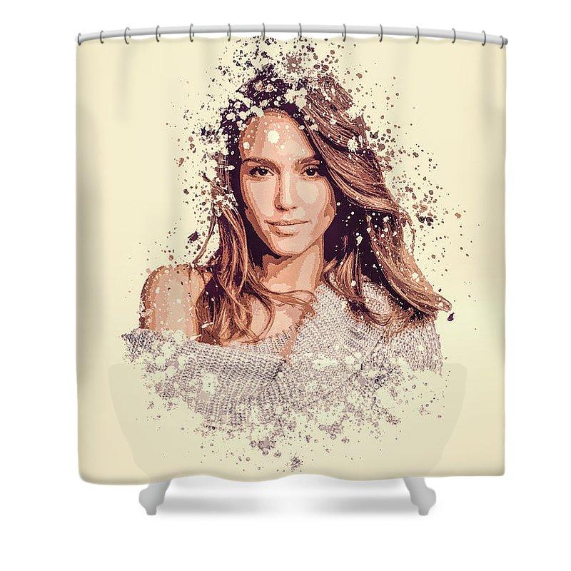 Jessica Alba Shower Curtains