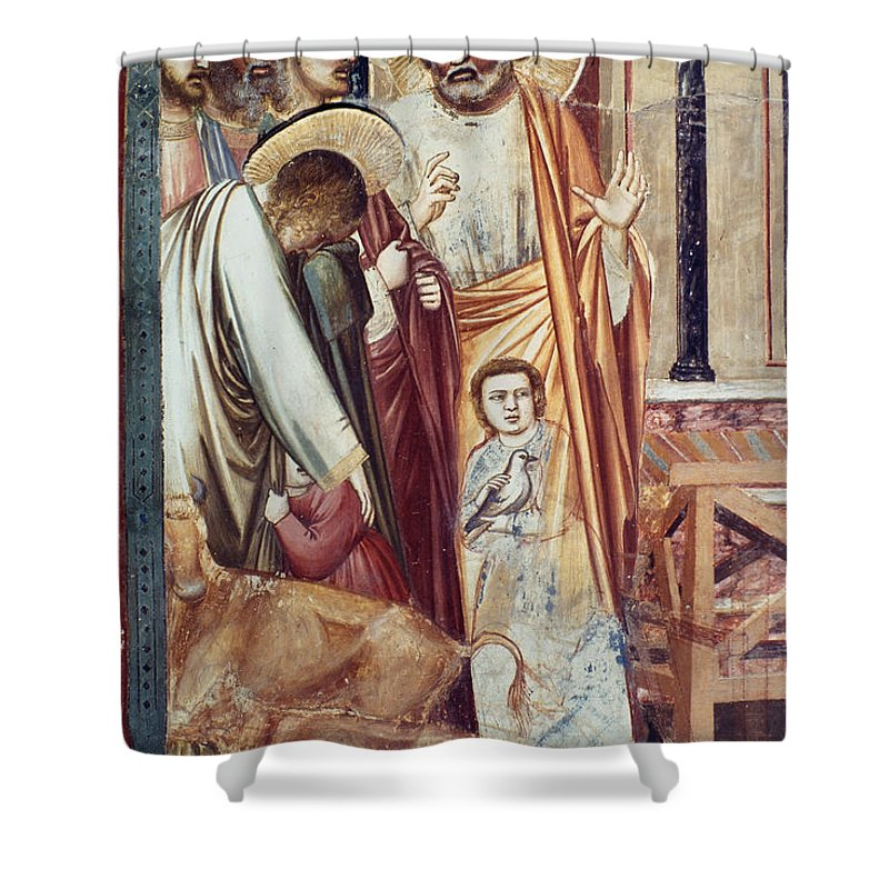 1304 Shower Curtain featuring the photograph Jesus & Moneychanger by Granger