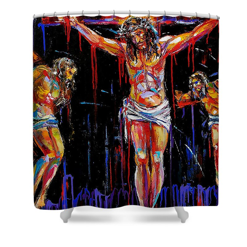 Jesus Shower Curtain Featuring The Painting Of Nazareth By Debra Hurd