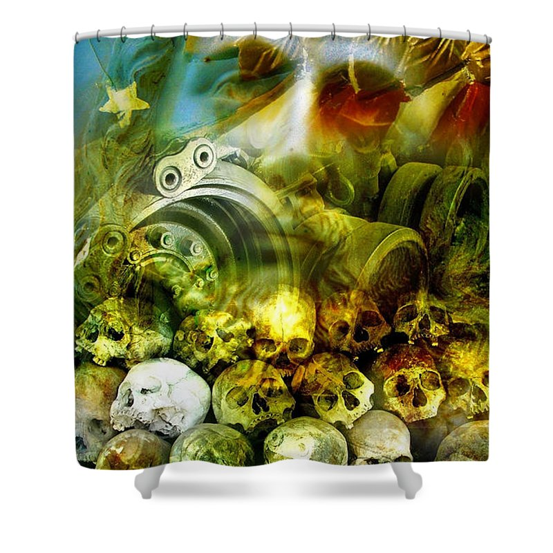 Jesus Shower Curtain featuring the photograph Jesus Wept by Skip Hunt