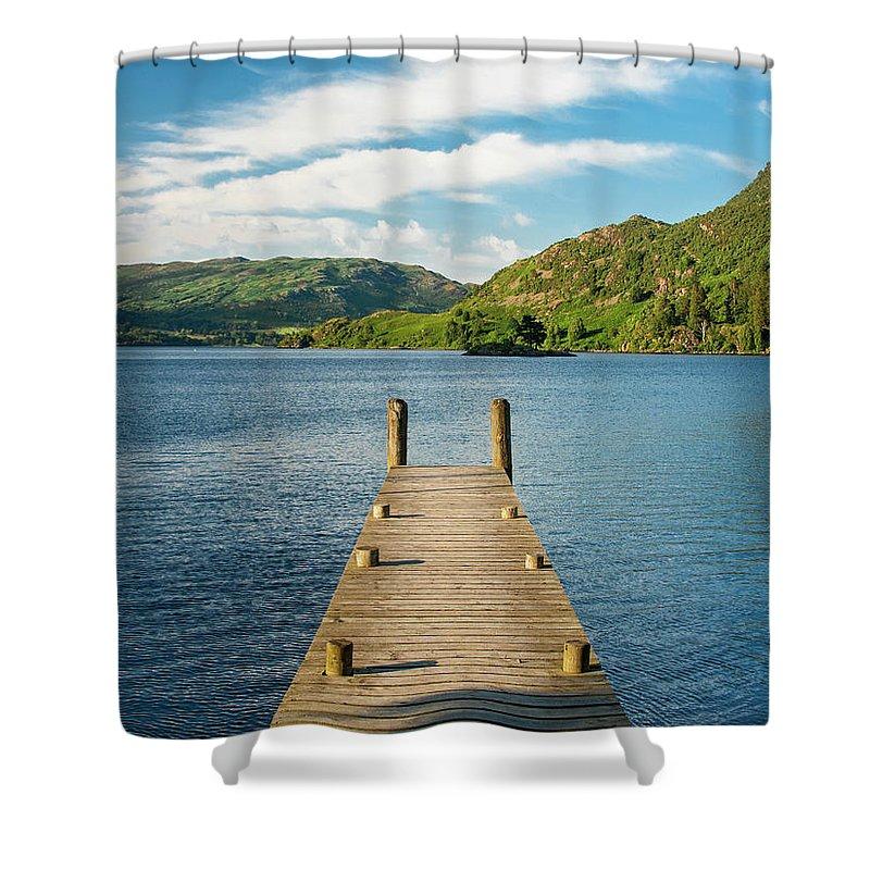 Pier Shower Curtain featuring the photograph Jetty by Julian Regan