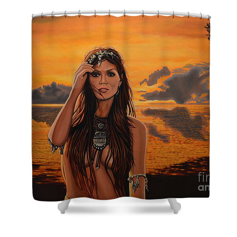 Central America Paintings Shower Curtains
