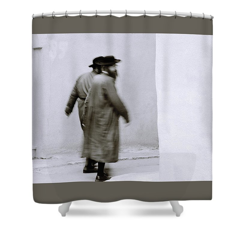 Jerusalem Shower Curtain featuring the photograph Jewish Life by Shaun Higson