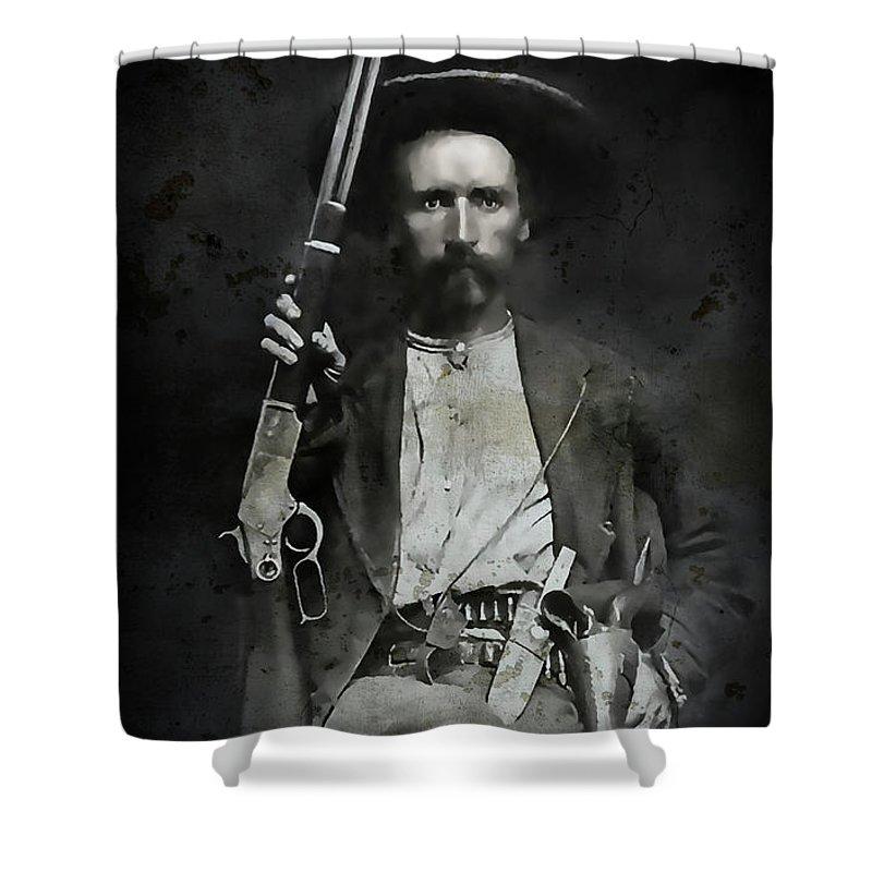 Texas Shower Curtain Featuring The Digital Art Jim Hawkins Ranger C 1870 By Daniel