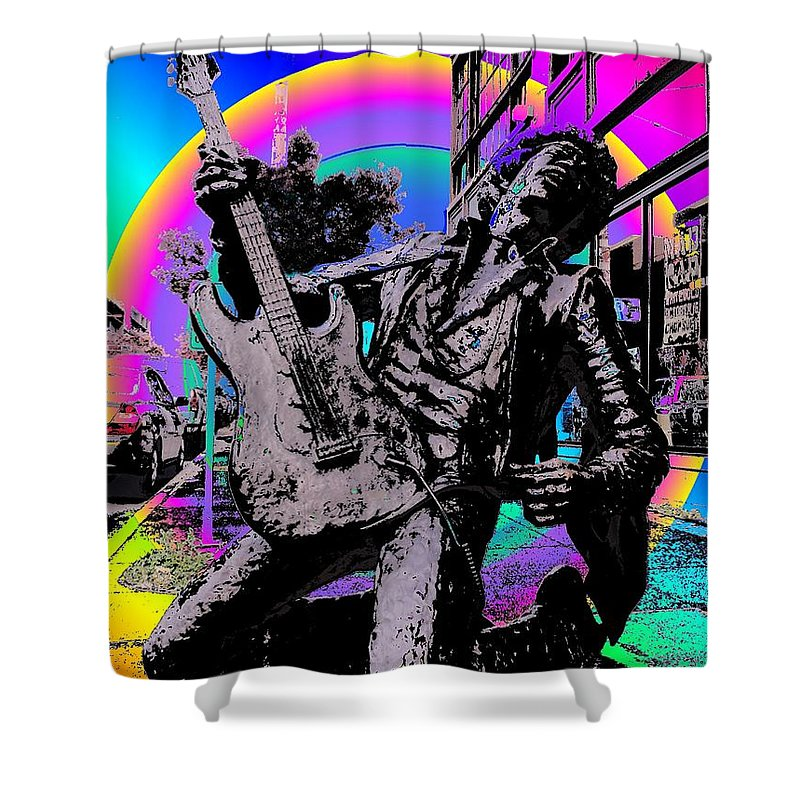 Seattle Shower Curtain featuring the photograph Jimi Hendrix by Tim Allen
