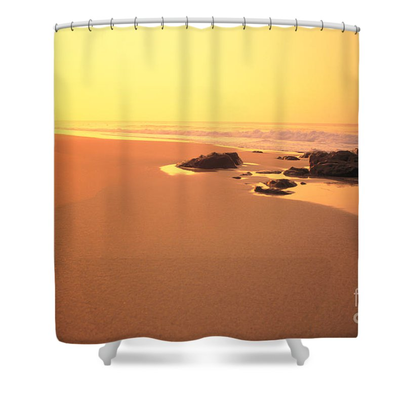 Active Shower Curtain featuring the photograph Jogging At Sunset by Dana Edmunds - Printscapes