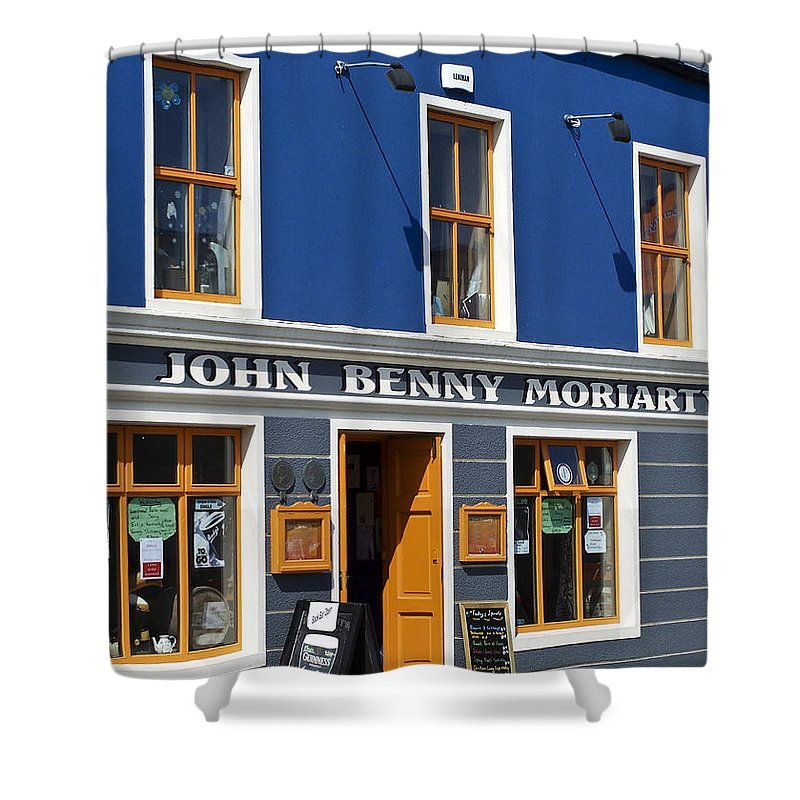 Irish Shower Curtain featuring the photograph John Benny by Teresa Mucha