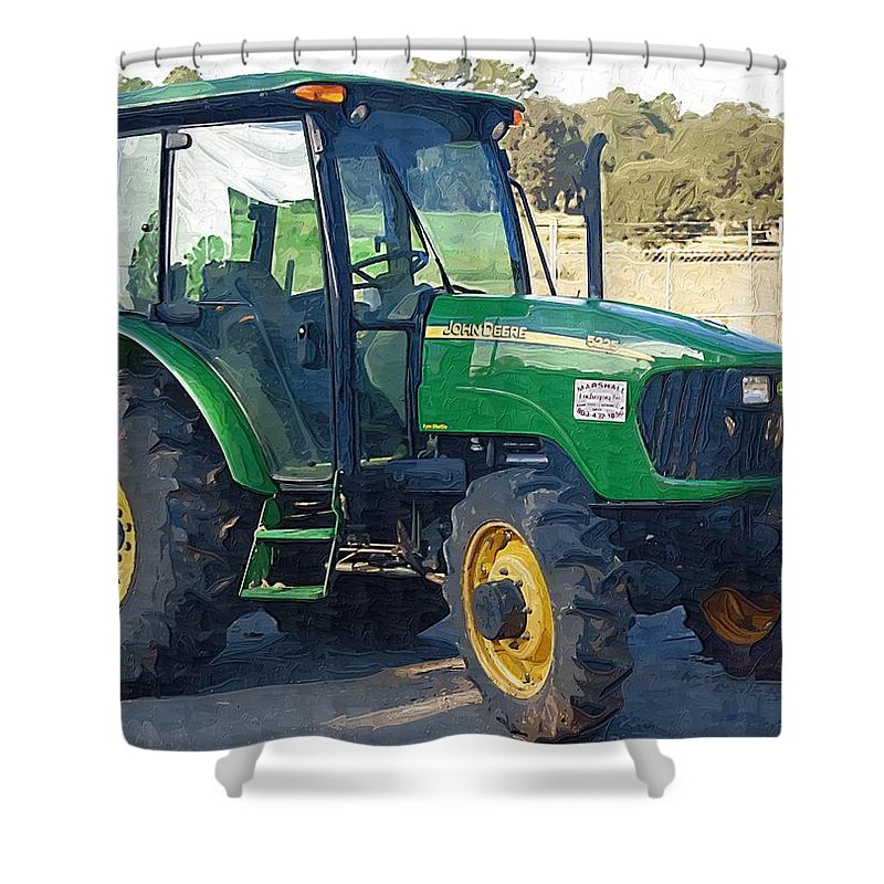 John Deere Shower Curtain featuring the photograph John Deere by Donna Bentley