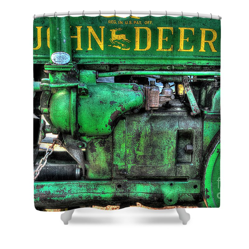 Tractor Shower Curtain featuring the photograph John Deere Gp by Mike Eingle