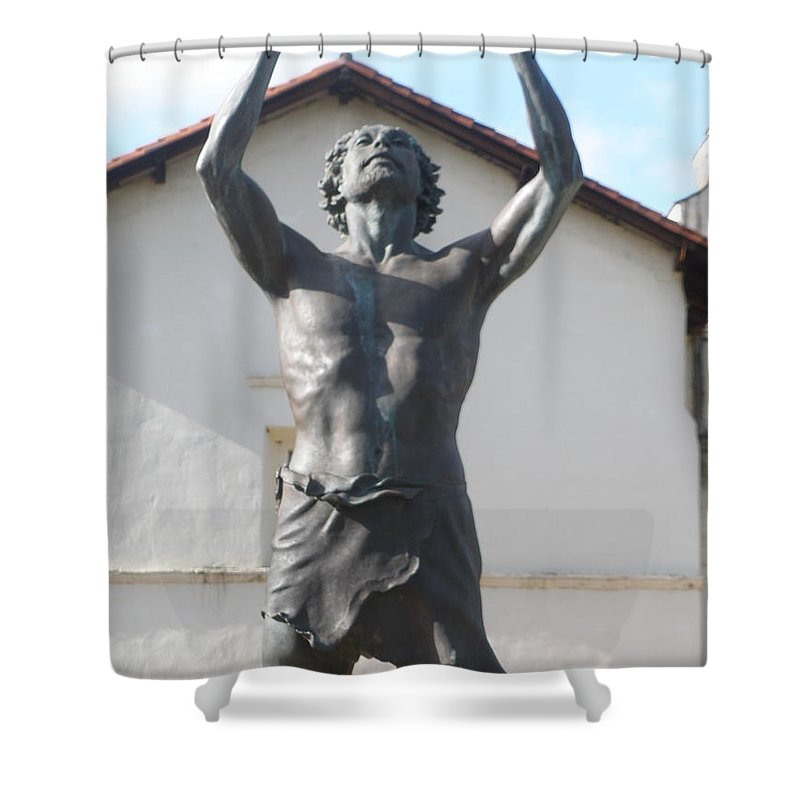 Statues Shower Curtain featuring the photograph John The Babtist by Jeanie Watson