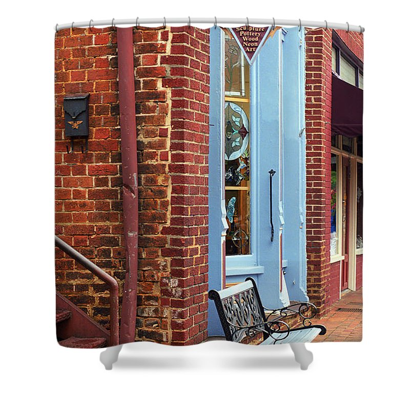 America Shower Curtain featuring the photograph Jonesborough Tennessee Main Street by Frank Romeo
