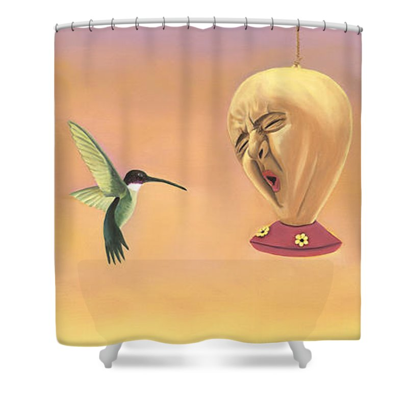 Faces In Unusual Places Shower Curtain featuring the painting Joshua by Sandi Snead