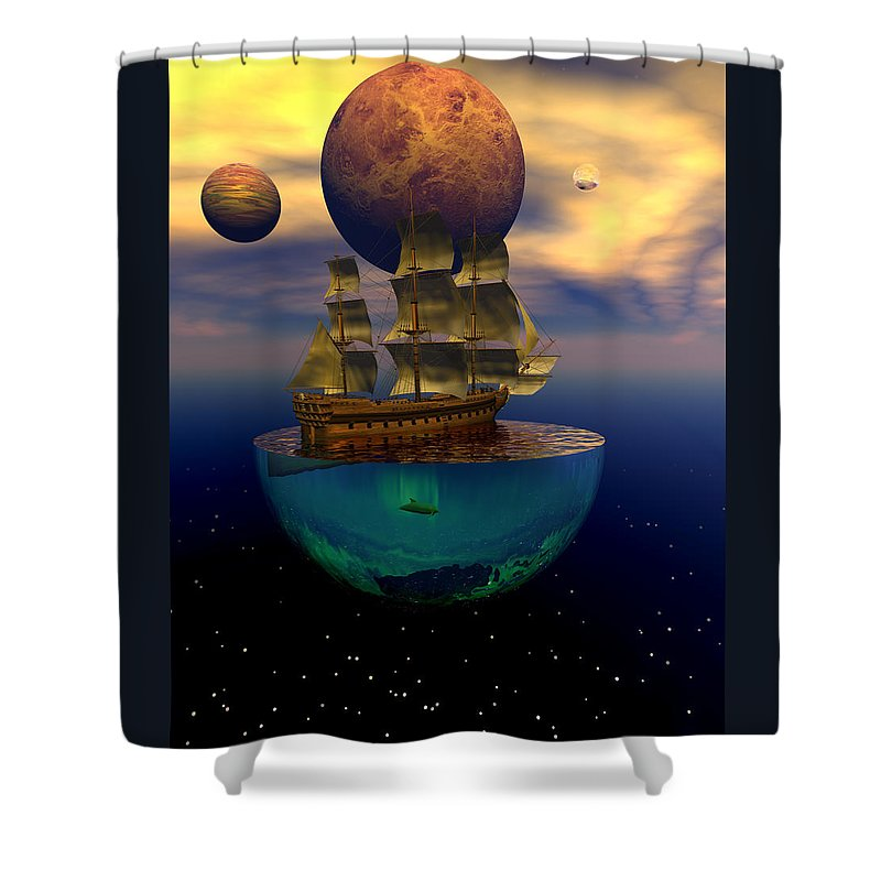 Bryce Shower Curtain featuring the digital art Journey Into Imagination by Claude McCoy