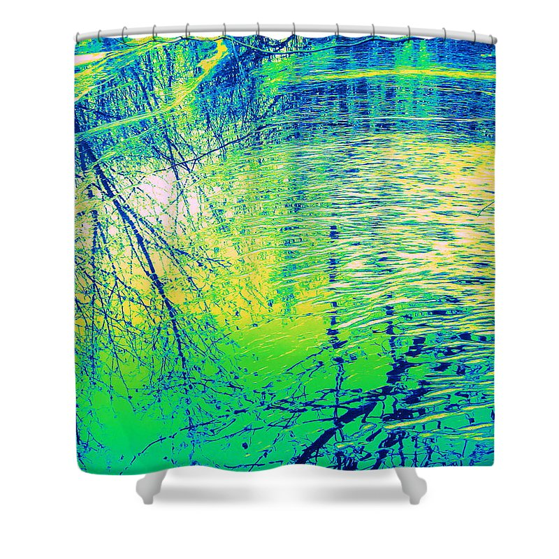 Water Art Shower Curtain featuring the photograph Journey by Sybil Staples