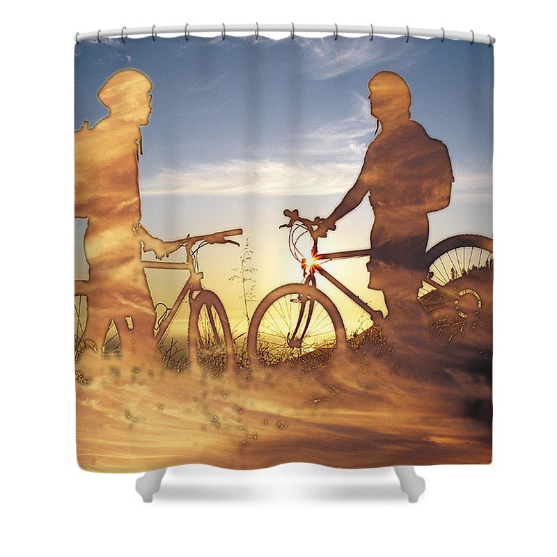 Clouds Shower Curtain featuring the photograph Journeys End by Tim Allen