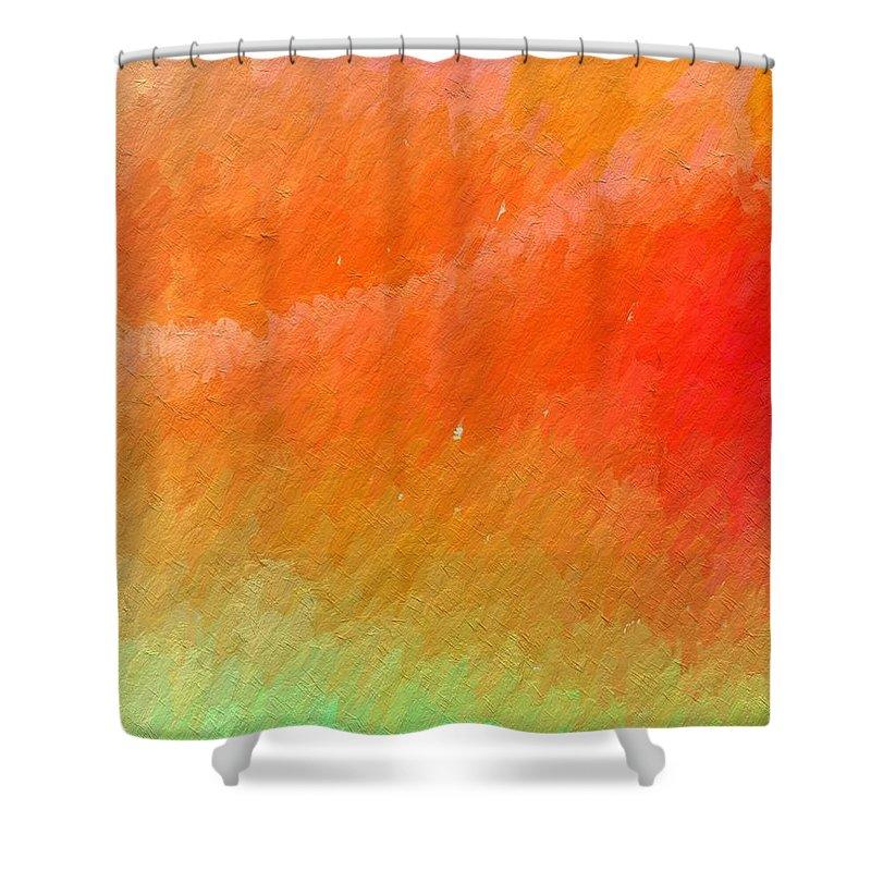 Abstract Shower Curtain featuring the photograph Joy Filled by Rita Koivunen