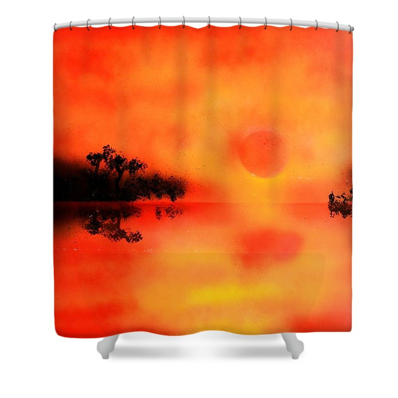 Fantasy Shower Curtain featuring the painting Joy Of The Sun by Nandor Molnar