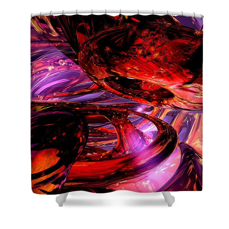 3d Shower Curtain featuring the digital art Jubilee Abstract by Alexander Butler