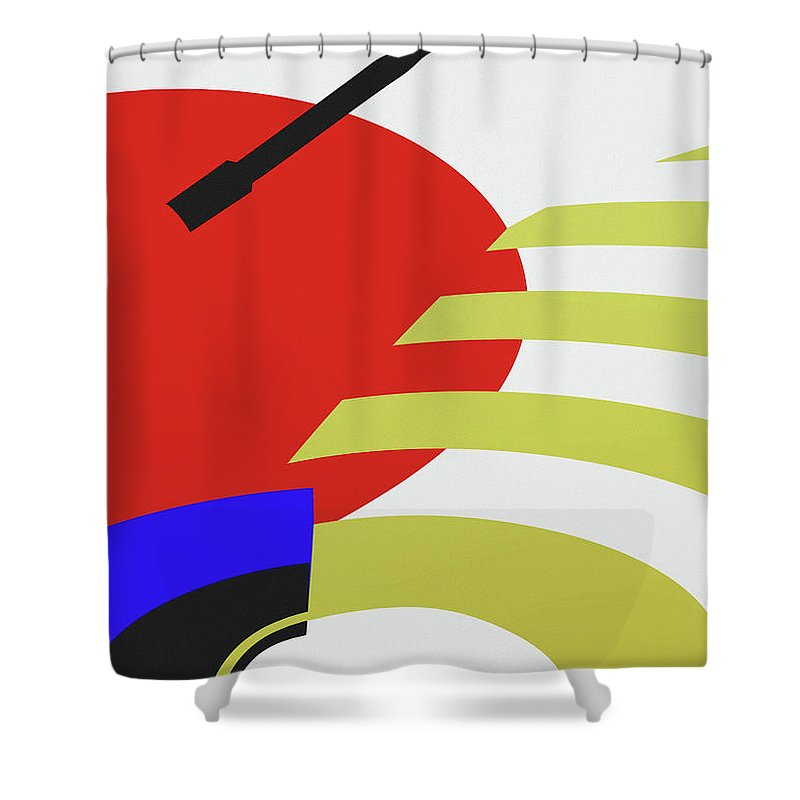 Jukebox Shower Curtain featuring the digital art Jukebox by Richard Rizzo