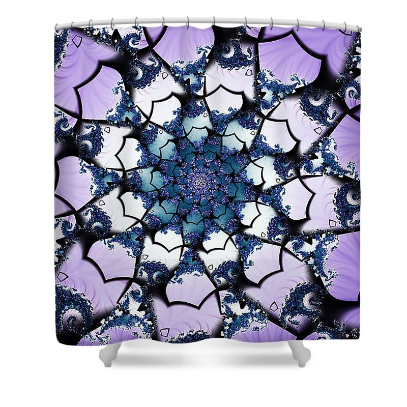 Clay Shower Curtain featuring the digital art Julia by Clayton Bruster