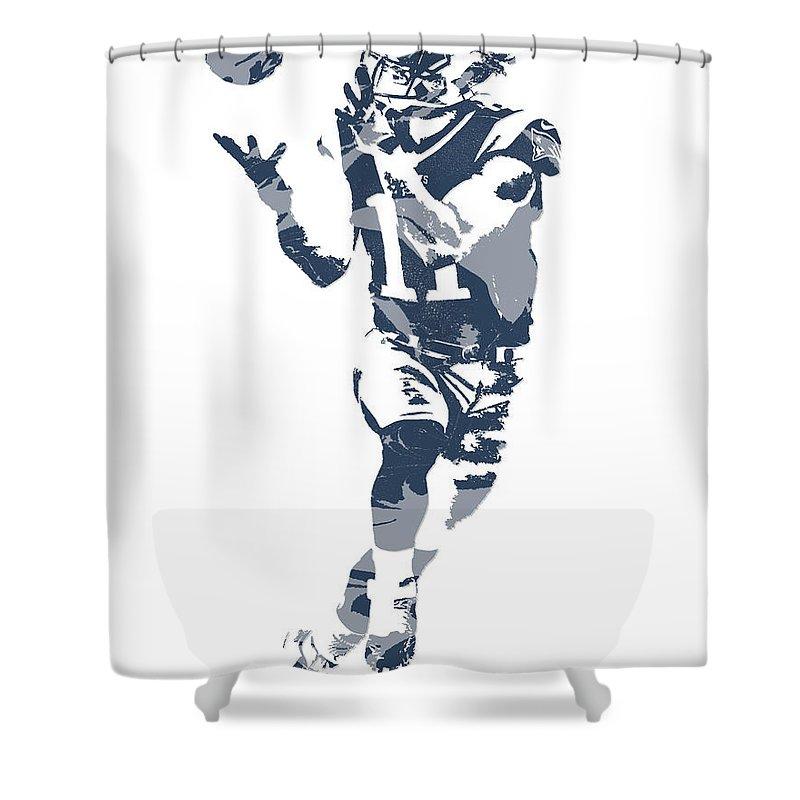 Julian Edelman New England Patriots Pixel Art 21 Shower Curtain For Sale By Joe Hamilton