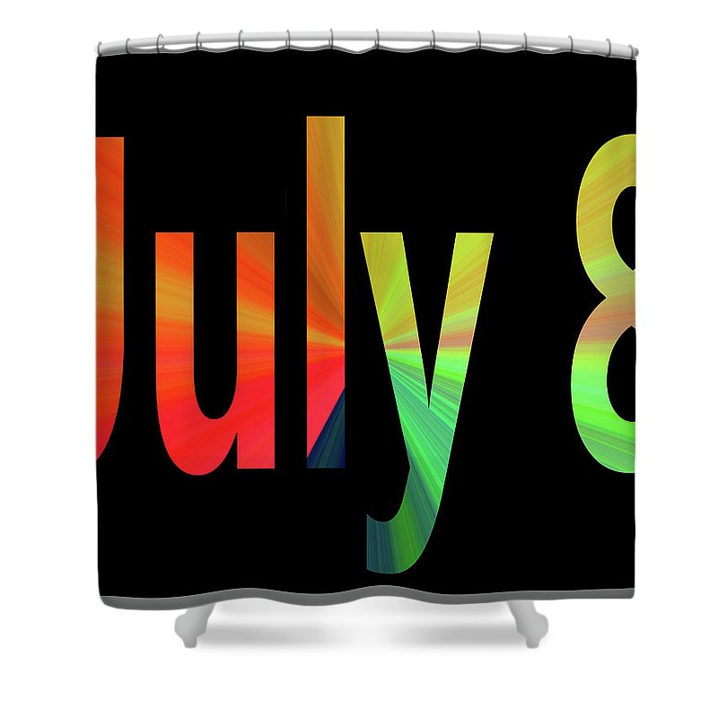 July Shower Curtain featuring the digital art July 8 by Day Williams