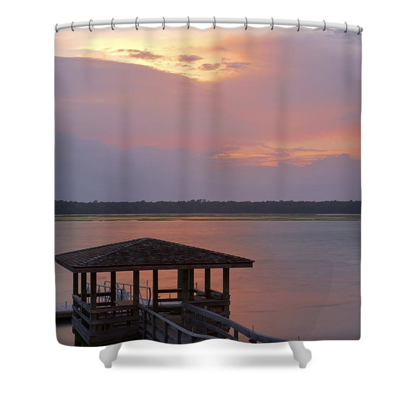 Sunset Shower Curtain featuring the photograph July Evening by Phill Doherty