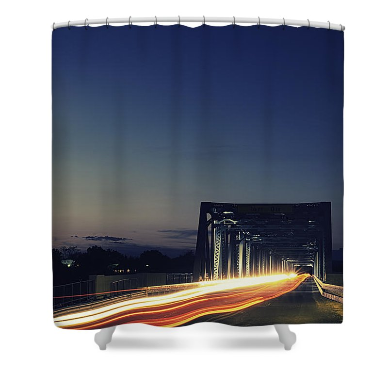 Landscape Shower Curtain featuring the photograph Junction by John Trew