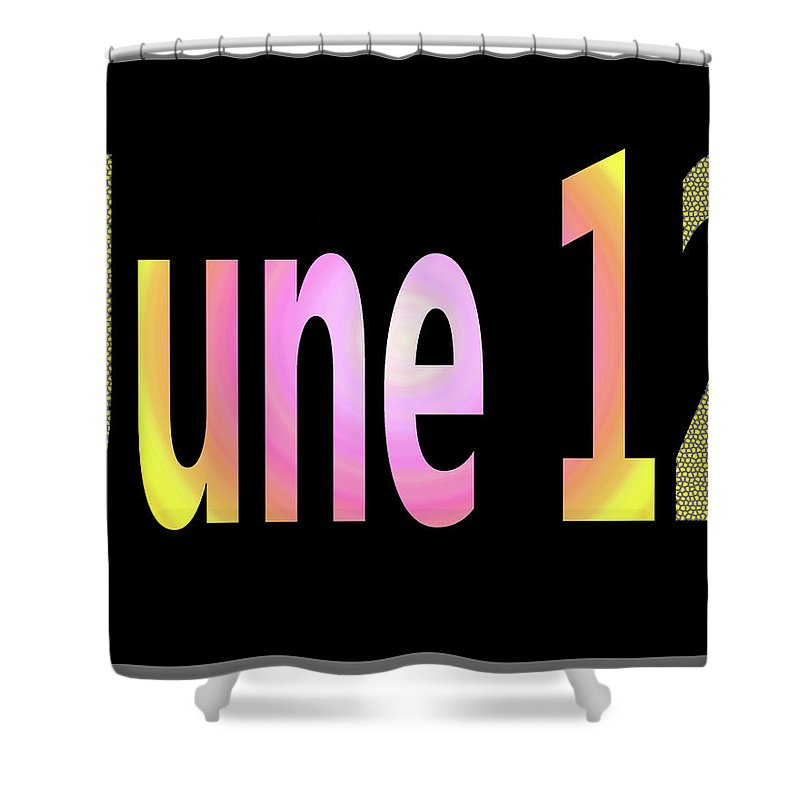 June Shower Curtain featuring the digital art June 12 by Day Williams