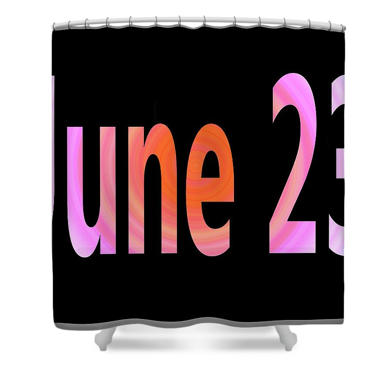 June Shower Curtain featuring the digital art June 23 by Day Williams