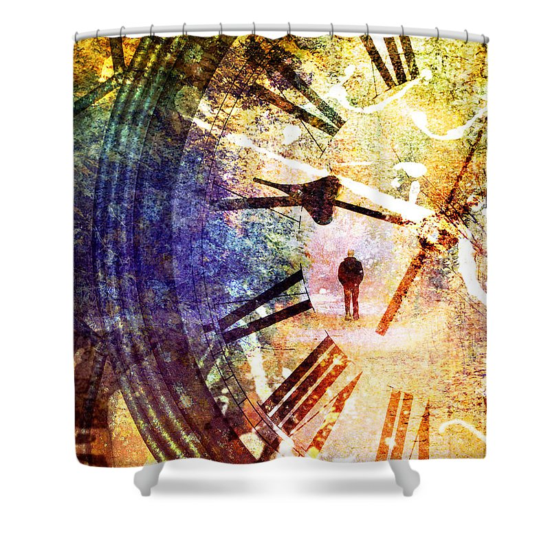 Clock Shower Curtain featuring the photograph June 5 2010 by Tara Turner